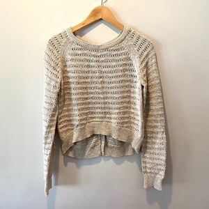 Moth Back Button High Low Sweater